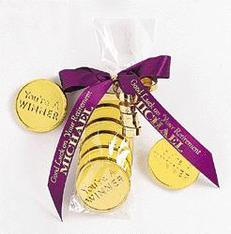 Olympic gold medal coins as favors #PreppyPlanner