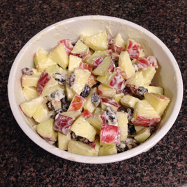 Fall Pinterest Recipes: Apple Salad #PreppyPlanner