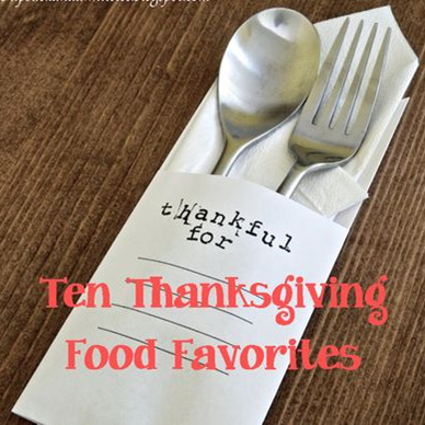 Thanksgiving Food Favorites #PreppyPlanner