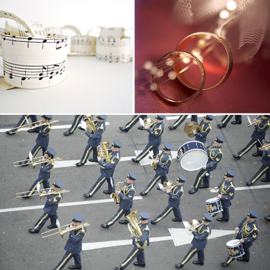 12 Days of Christmas Wedding Inspirations: Twelve Drummers Drumming #PreppyPlanner