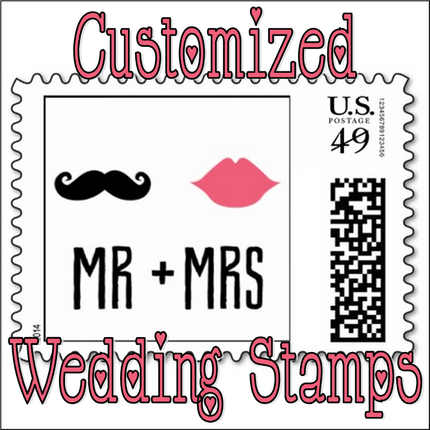 Wedding Wednesday: Customized Stamps #PreppyPlanner