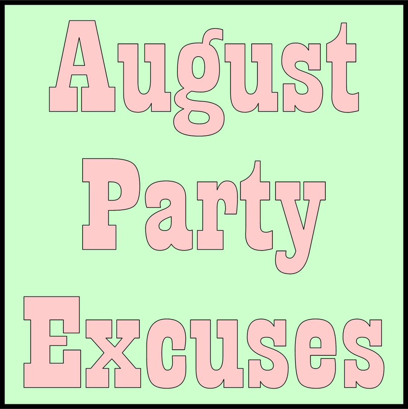 Tuesday Ten: August Party Excuses #PreppyPlanner