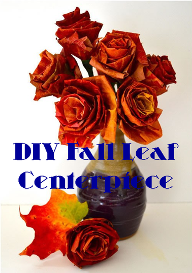 DIY on how to create the a fall floral bouquet out of leaves for any party centerpiece #PreppyPlanner