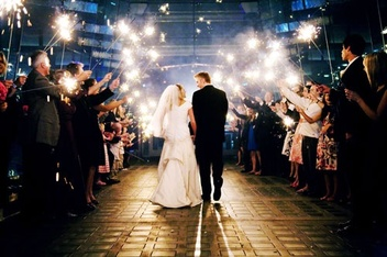 a sparkler wedding send off #PreppyPlanner