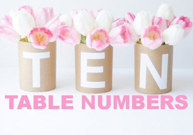 Tuesday Ten: Table Numbers #PreppyPlanner