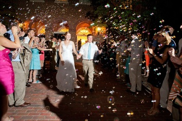 use bubbles for the wedding send off and have no clean up #PreppyPlanner