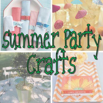 Summer Party Crafts that will have you ready for any summer party celebration #PreppyPlanner