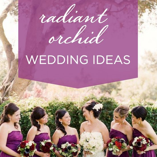 Wedding Wednesday: Radiant Orchid #PreppyPlanner