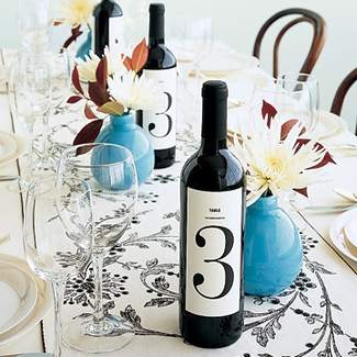 create new wine labels for the table wine that can also serve as table numbers #PreppyPlanner