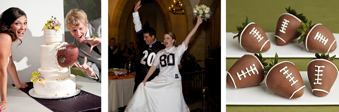 Wedding wednesday a football theme the preppy planner incorporate your favorite team into your day by wearing team jerseys and when it comes to junglespirit