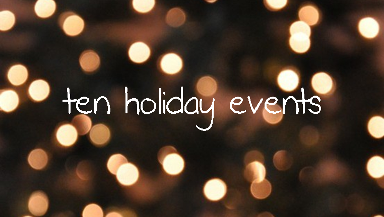Tuesday Ten: Holiday Events #PreppyPlanner
