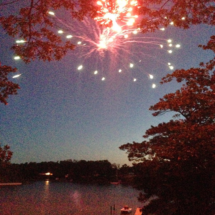 A great firework show overlooking the creek #PreppyPlanner