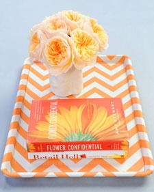 Summer Party Crafts: Decorative Tray #PreppyPlanner