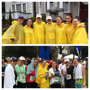 Spring Photo Diary: We were ready, rain or shine, to run the Ukrop's Monument Ave 10K #PreppyPlanner