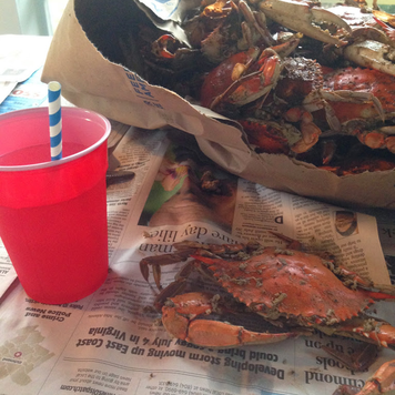 A trip to the river isn't complete unless we have a batch of Chseapeake Bay Blue Crabs #PreppyPlanner