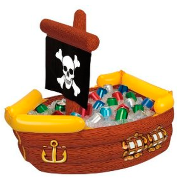 serve your bottled beverages in a festive themed pirate ship cooler #PreppyPlanner
