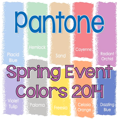 Tuesday Ten: Pantone Spring Event Colors for 2014 #PreppyPlanner