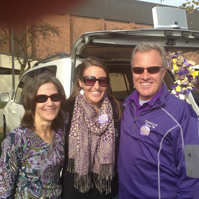 Football Season Photo Diary: My parents and I proudly wearing our gameday purple #PreppyPlanner
