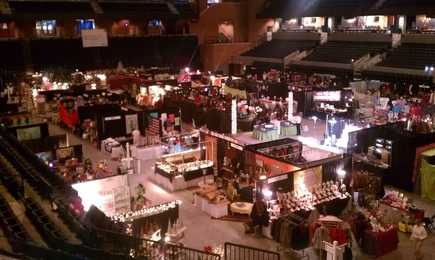 The arena all setup with the vendors ready to sell their items to raise money for the Martha Jefferson Hospital #PreppyPlanner
