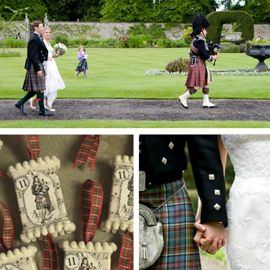 12 Days of Christmas Wedding Inspirations: Eleven Pipers Piping #PreppyPlanner