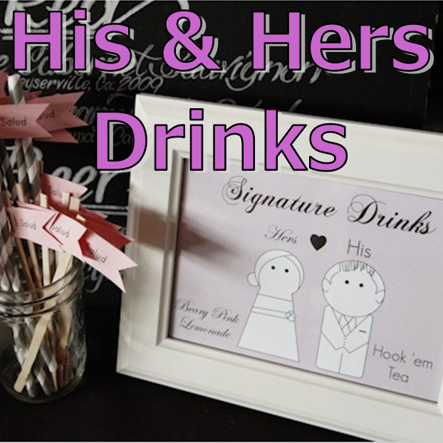 Wedding Wednesday: His and Hers Drinks #PreppyPlanner