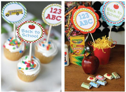 decorate your treats and centerpieces with back to school printables from #KarasPartyIdeas #PreppyPlanner